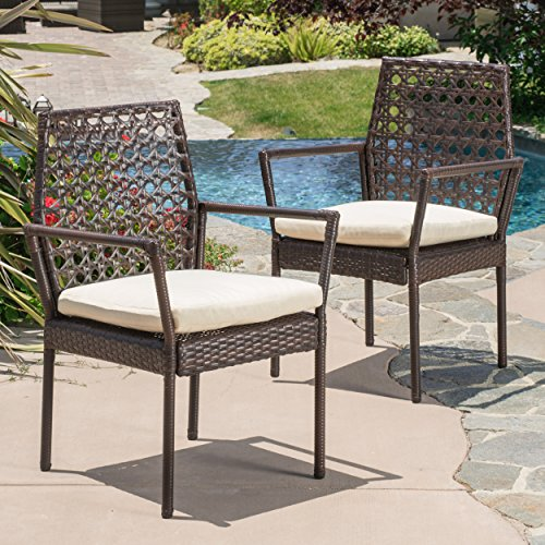 Cheap Great Deal Furniture Parker Multibrown Wicker Dining Chairs (Set of 2)