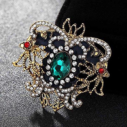 es Bouquet Shiny Fine Turkish Jewelry Vintage Broach Collar Brooch Men Colares Bijuterias UK-in Brooches (Turkish Bouquet)