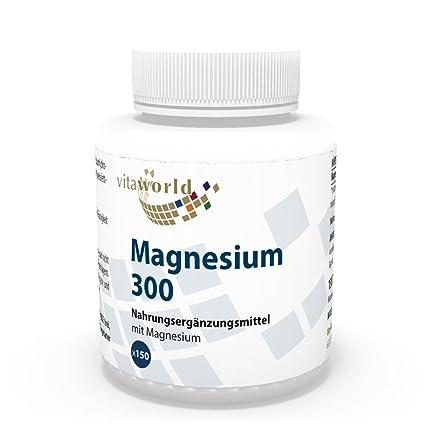 Magnesio 300mg 150 Comprimidos - Vita World Producción Farmacia Alemania