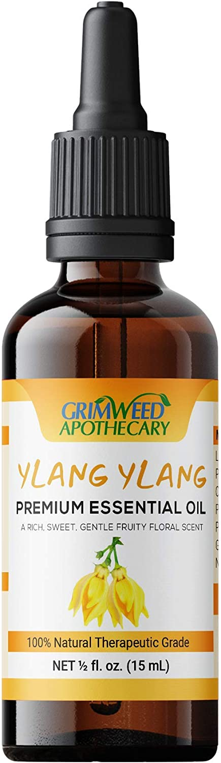 Natural Ylang Ylang Essential Oil - Therapeutic Grade, with Glass Dropper