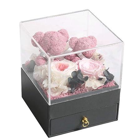 Rosas en una Caja de Regalo Nunca se marchitó Joyas de rosa ...