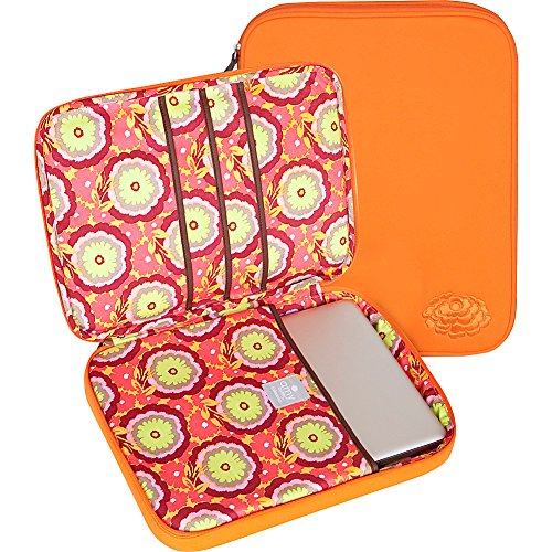 amy-butler-nola-cushioned-laptop-sleevebuttercups-tangerineone-size