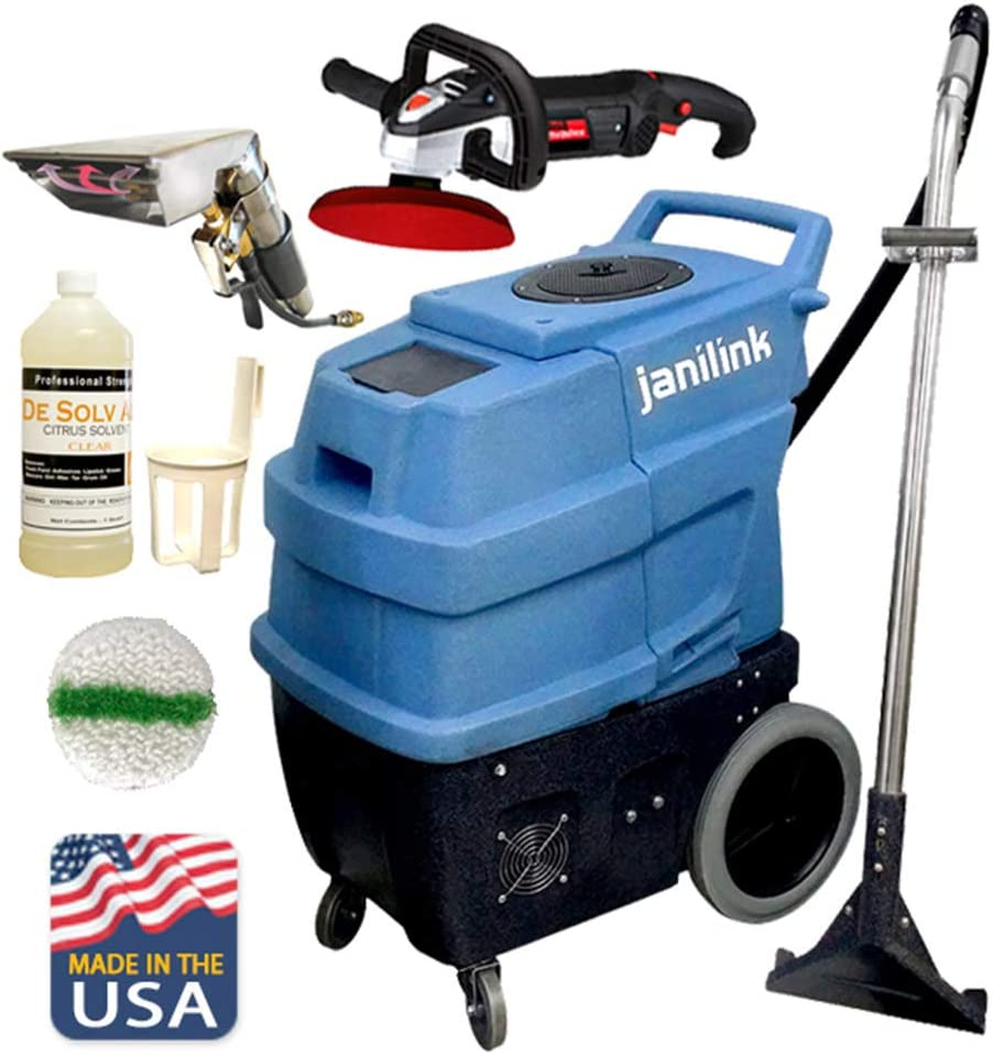 JaniLink Premium 500 PSI Portable Carpet Extractor Machine with Hose, Wand, 2 Heats, 3 Vac Motors 6 Stages and Essential Tools Included