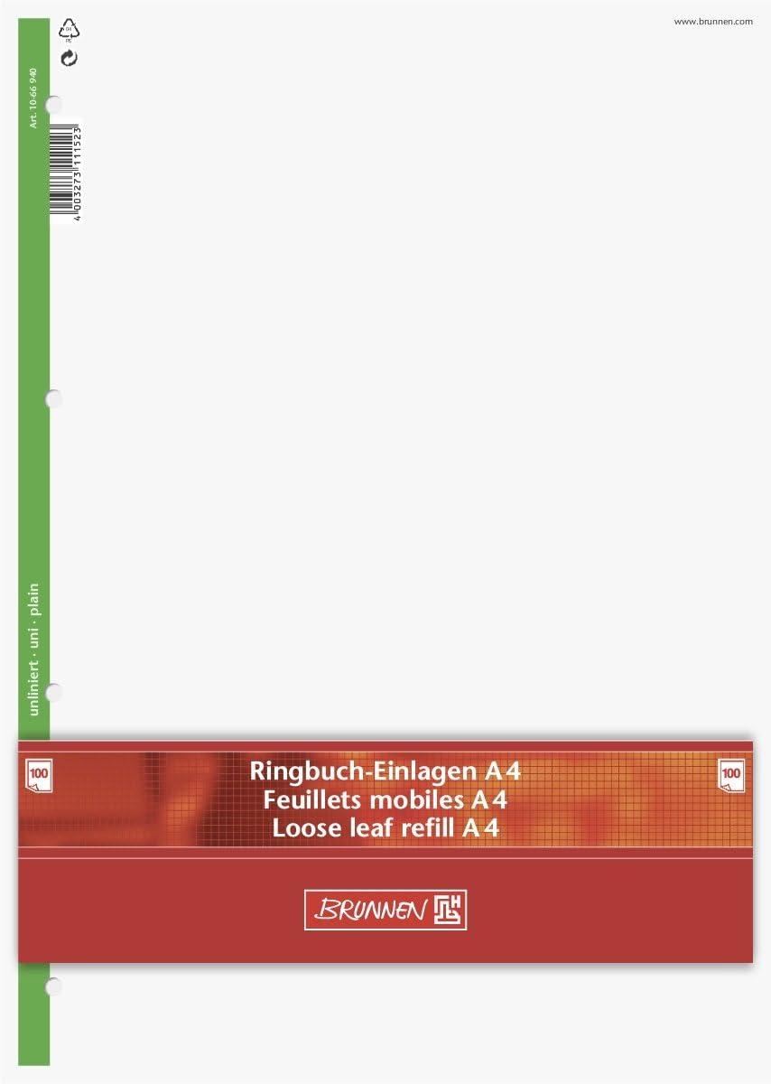 Bianco 70/G//MQ 4/scomparto 100/fogli /Fogli per raccoglitore ad anelli Baier /& Schneider/ A4