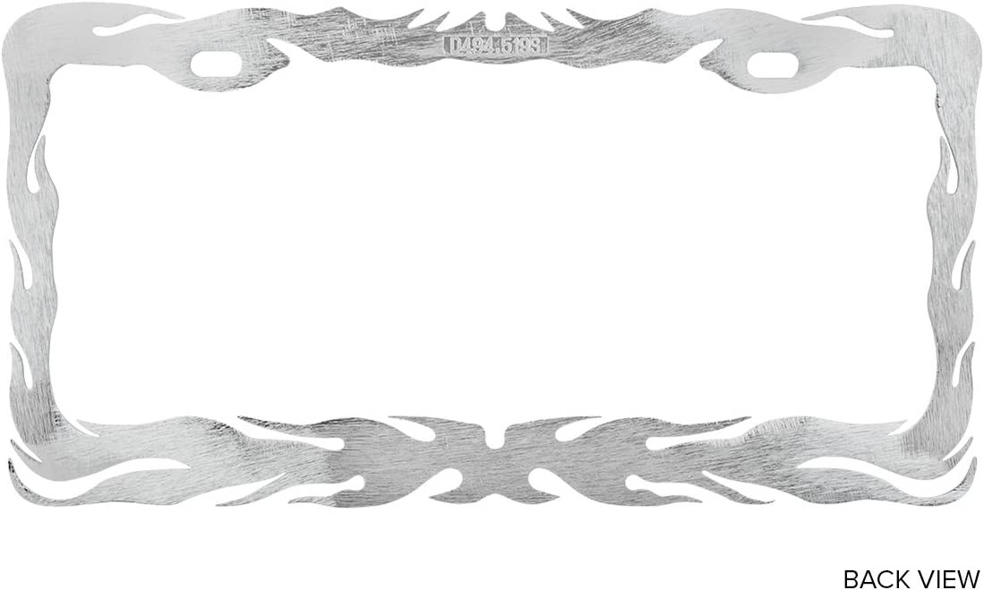 Grand General 60462 Chrome Flame License Plate Frame with 2 Holes