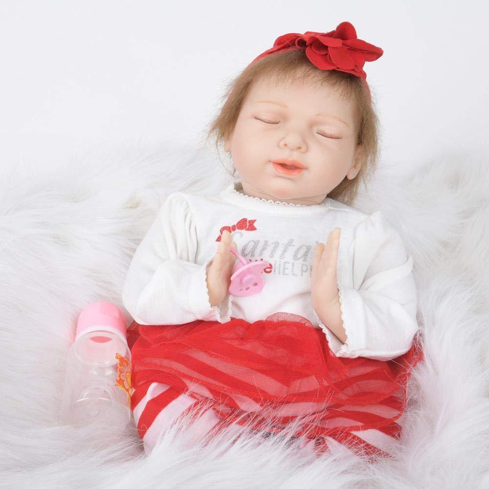 Hongge Reborn Baby Doll,Lebensechte Wiedergeburt Spielzeug Puppe Kind Puppe Spielzeug Wiedergeburt Geschenk 55cm f1b5c2