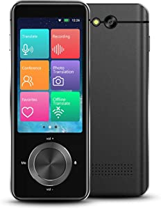 Language Translator Device 107 Languages, Two Way Portable Instant Voice Translator, Voice/Text/Photo Translation, 3-inch HD Touch Screen