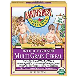 Earth's Best Organic Infant Cereal, Whole Multi-Grain Cereal, 8 Ounce