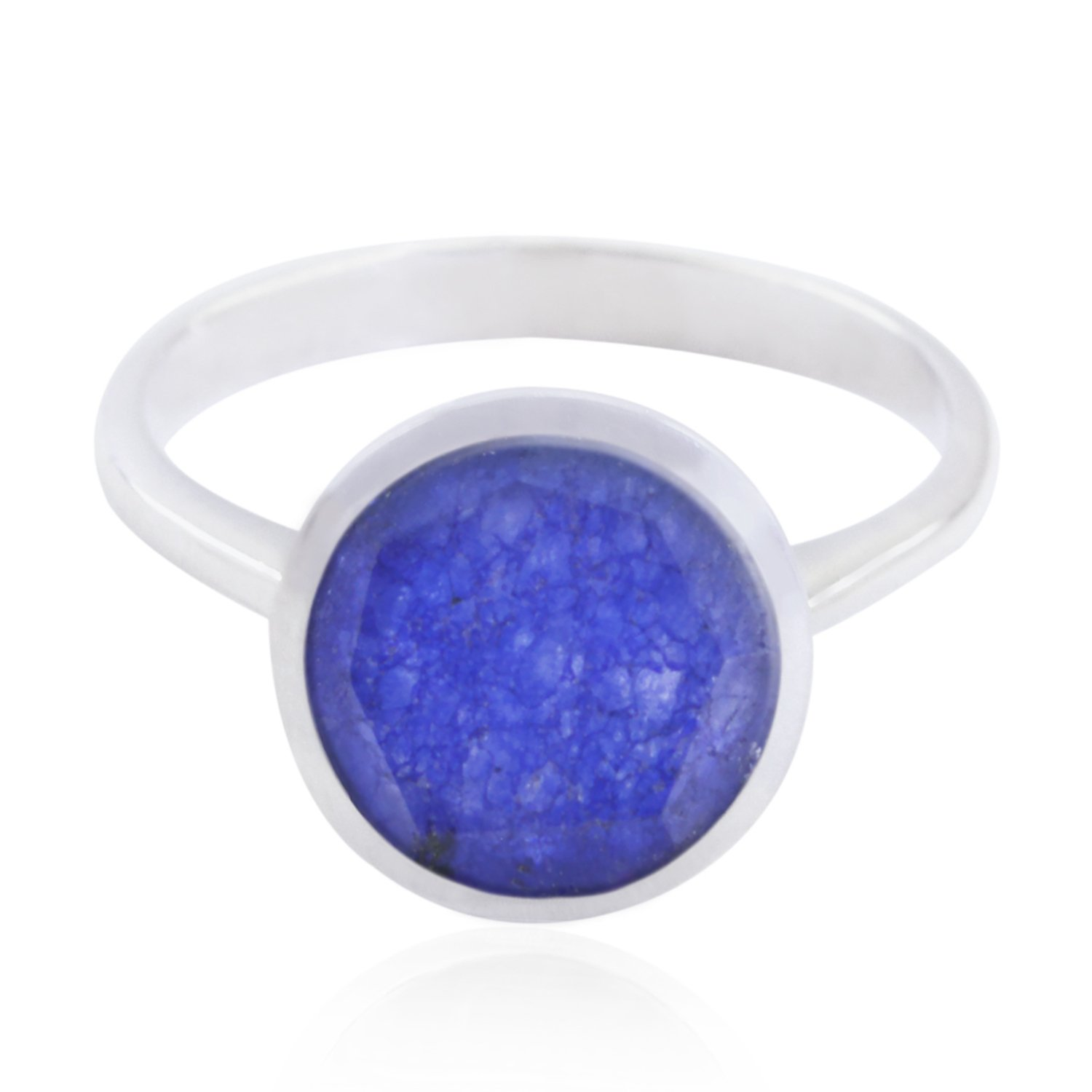 Designer Jewelry Highest Seller Gift for Graduation Handmade Rings 925 Silver Blue Indiansappire Good Gemstones Ring Good Gemstones Round Faceted Indiansappire Rings