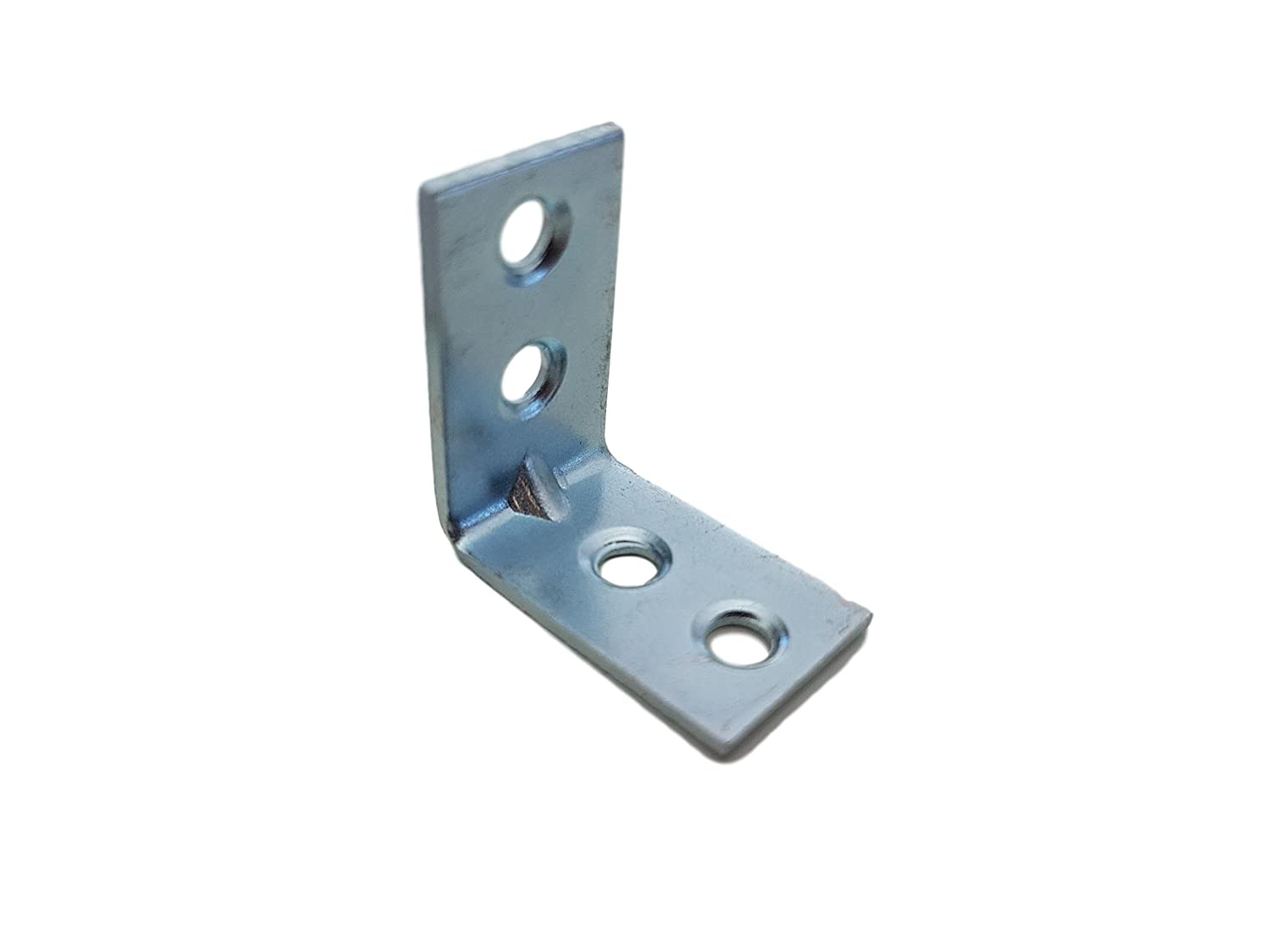 (Pack of 20 pcs) 30 x 30 mm Hardware Bright zc Zinc Plated Corner Joint 90 Degree Braces Brackets Plates Made in China