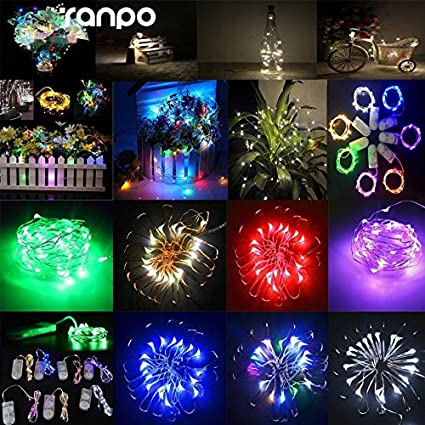 1M 10LEDs Battery Operated LED Silver Wire String Fairy Lights Party Home Decor