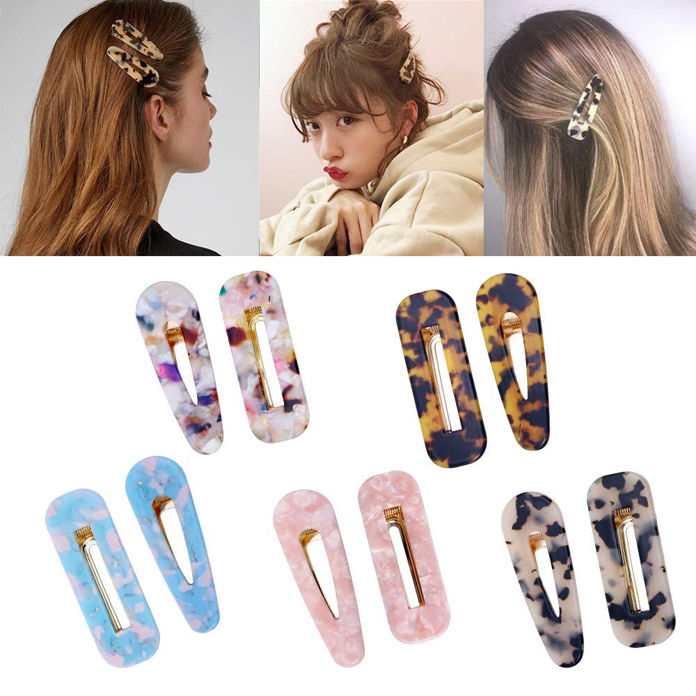 10 Pcs Acrylic Resin Hair Barrettes Fashion Geometric Alligator Hair Clips for Women and Ladies Hair Accessories by fani (Image #7)