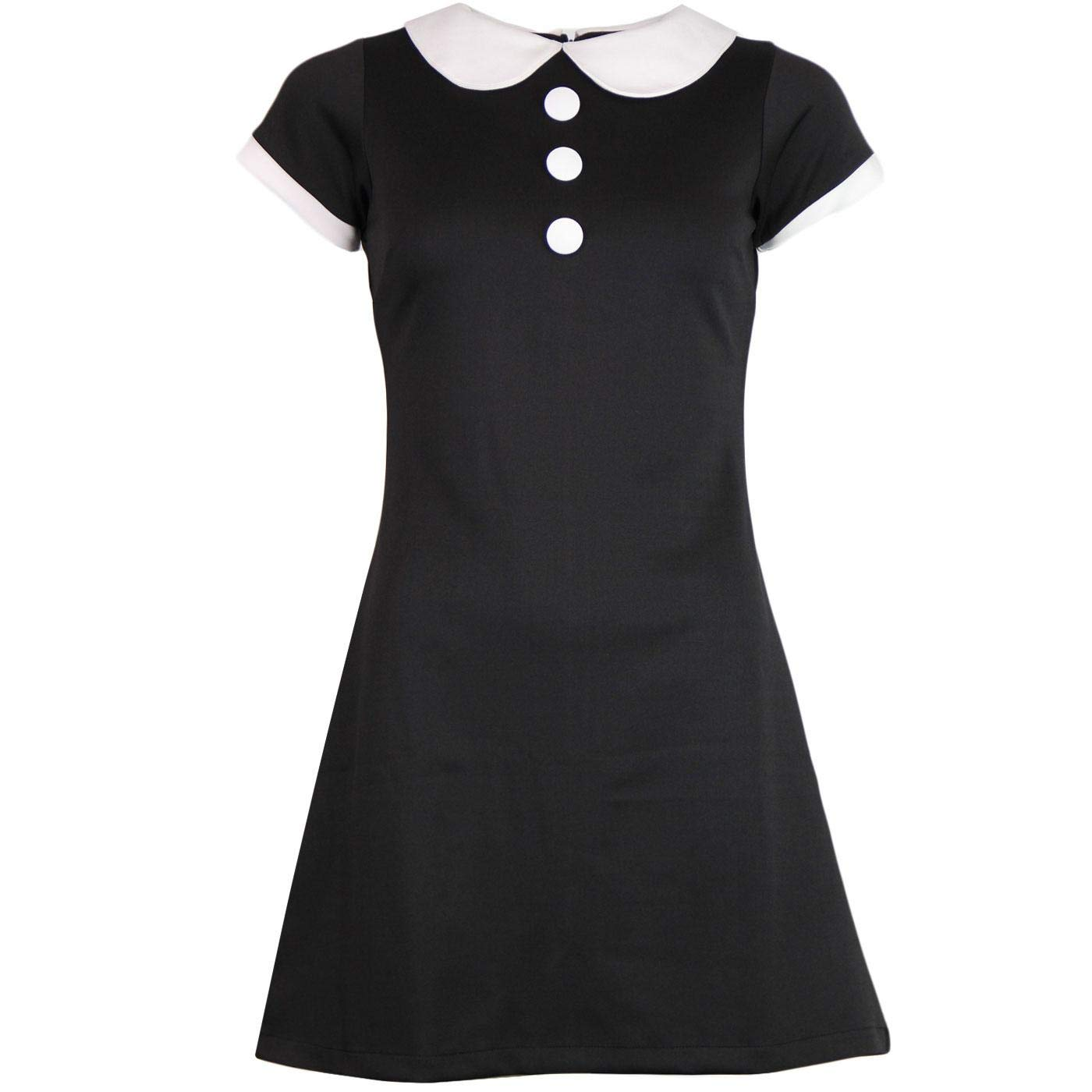 1960s Style Dresses, Clothing, Shoes UK Madcap England Dollierocker Retro 60s Mod Peter Pan Collar Jersey Mini Dress £39.99 AT vintagedancer.com