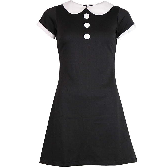 60s Dresses & 60s Style Dresses UK Madcap England Dollierocker Retro 60s Mod Peter Pan Collar Jersey Mini Dress £39.99 AT vintagedancer.com