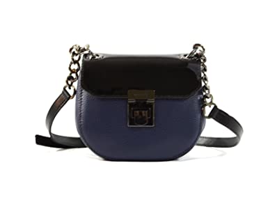 da156777db92 Michael Kors Cecelia Mini Saddle Leather Crossbody Bag Purse Handbag (Navy  Black)