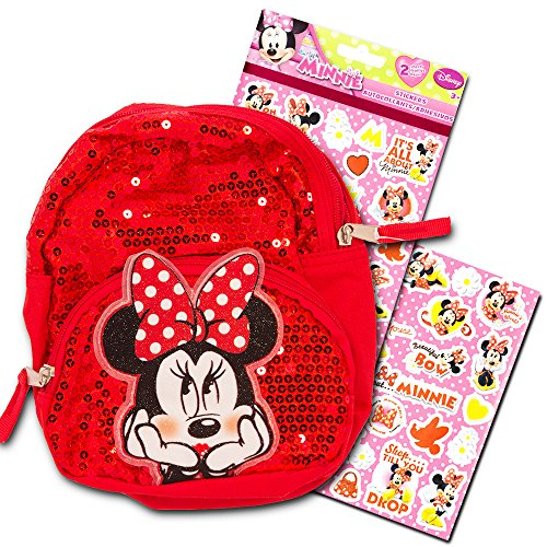 Galleon - Disney Toddler Minnie Mouse Preschool Backpack Set - Deluxe 11  Inch Minnie Mouse Mini Backpack With Over 300 Stickers e6040d583b