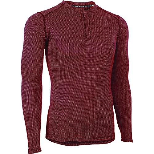 CANARI Men's Bernies Long Sleeve Jersey, Rio Red, Small