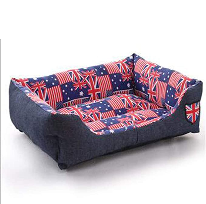 Black Manba Kennel Denim, Cat Sofa European Cowboy Sofa Pet Bed, Lavable A Máquina, Fácil De Desmontar, Material De Oxford para Mascotas: Amazon.es: ...
