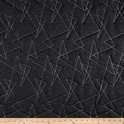 ARTISTRY Mod Quilted Upholstery Fabric by The Yard, Obsidian