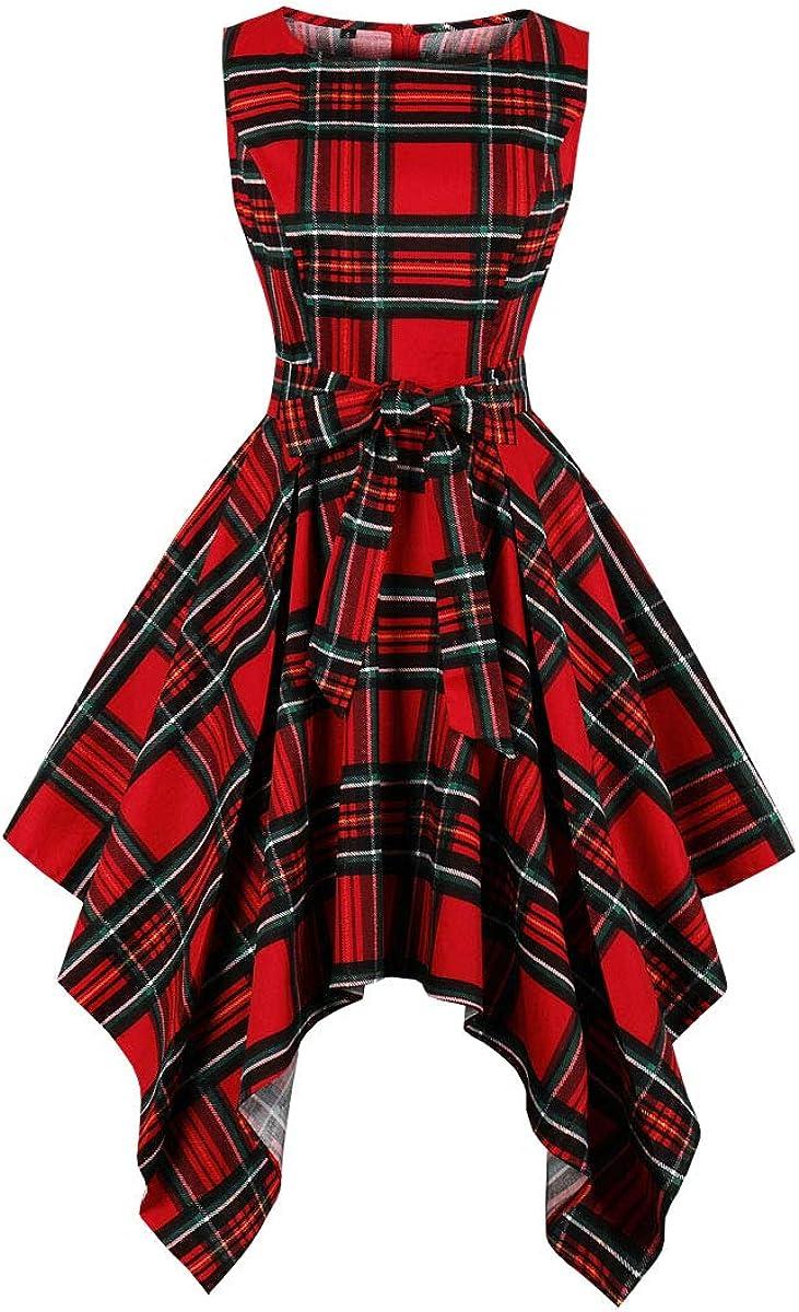 Wellwits Womens Dashiki African Print High Low Asymmetric Vintage Dress