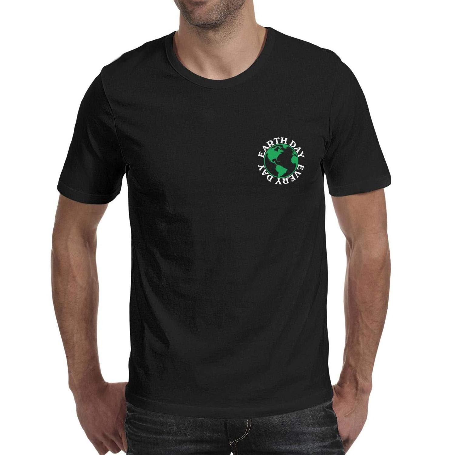 Mens Earth Day EveryDaygreen Earth Round Neck T-Shirts,Summer Casual Short Sleeve Tee