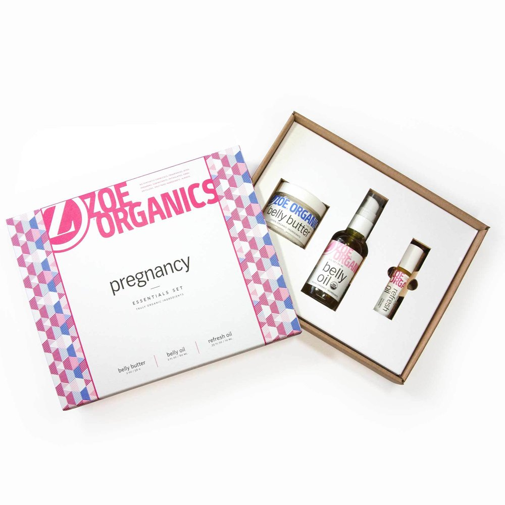 Zoe Organics - Pregnancy Gift Set, Moisturizing and Conditioning Oils and Butter that Supports Skin During Pregnancy and Postpartum (Set of 3: Belly Butter, Refresh Oil and Belly Oil) by Zoe Organics (Image #7)