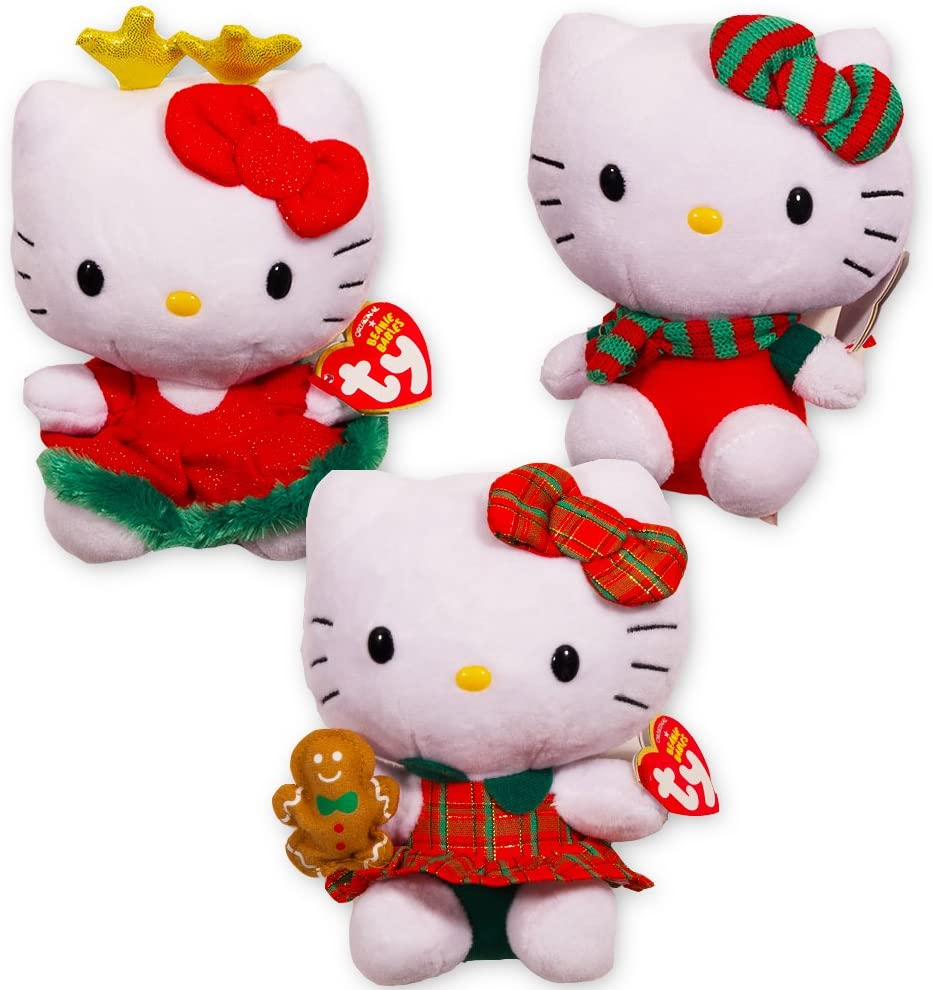 Ty Baby Beanies Holiday Collection set of 6 NEW