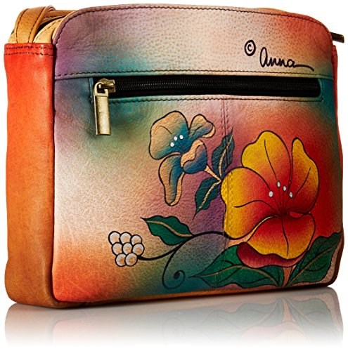 Leather WFL Anuschka Flower Shoulder 8058 Bag Wild Handpainted 1wPqaB5