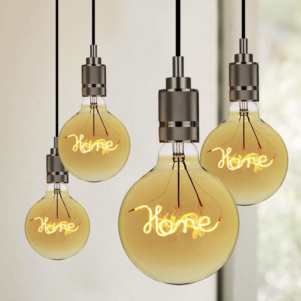 LightingDesigner Edison Led Bulb Big Globe G125 Character Led Filament 4W 220//240V E27 Home