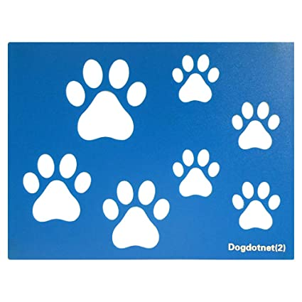 Dogdotnet Second Dog Cat Paw Print Stencils Sheet Template, Three Paw Print  Sizes, 3