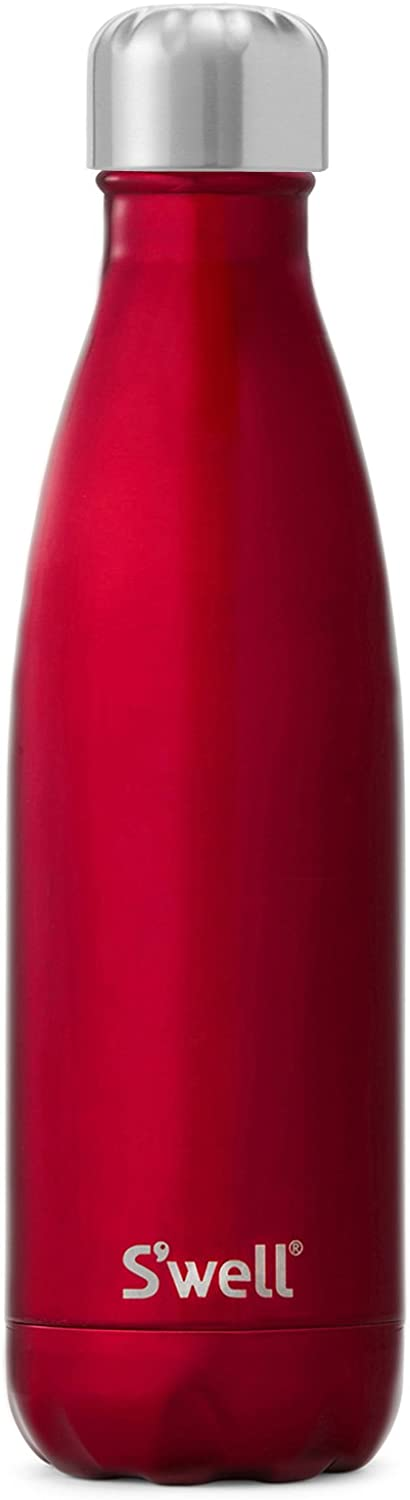 S'well Vacuum Insulated Stainless Steel Water Bottle, 17 oz, Rowboat Red - SWB-RED06
