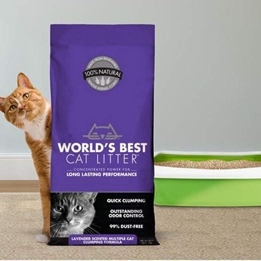 Worlds Best Arena para Gatos con Aroma a Lavanda, 12.7 kg, antibacteriana, desechable e hipoalergénica, con Control de Olor, fórmula Desodorante combinada con 4 Pelotas de Juguete Trixie Nub: Amazon.es: Productos para