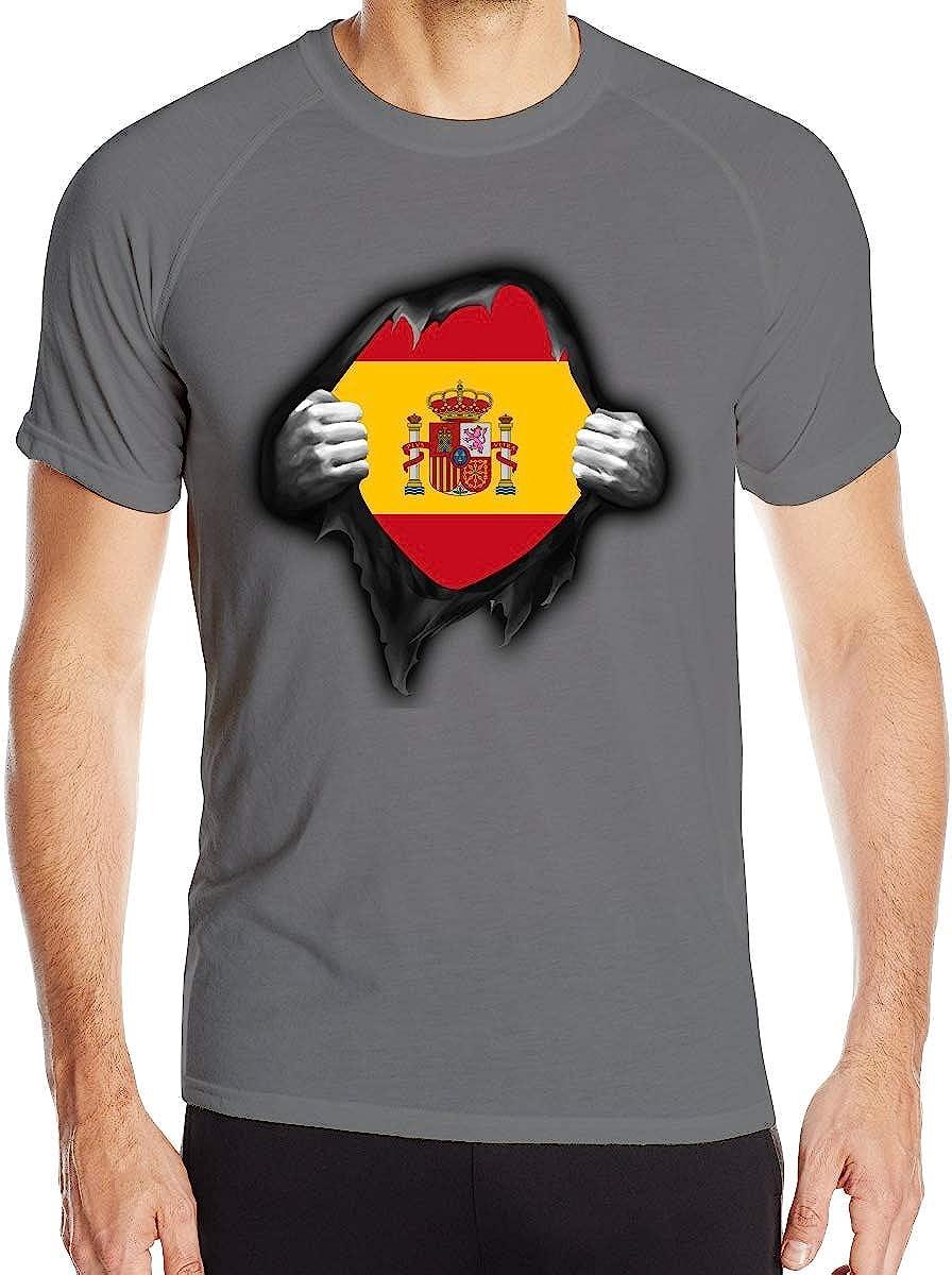 Camiseta Deportiva para Hombre de España con Bandera de España ...