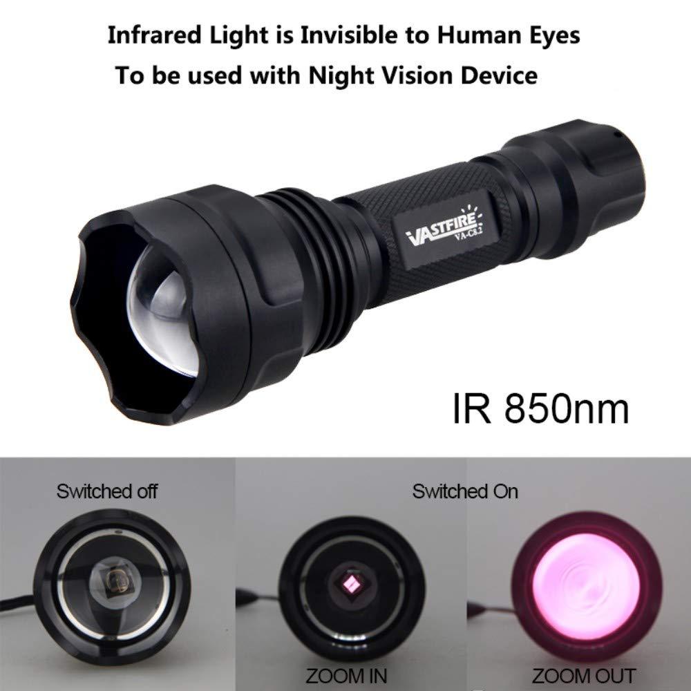 Lampe torche infrarouge Osram IR 850 lampe torche de vision nocturne appareils de chasse /à mise au point r/églable lampe torche de chasse /à infrarouge utilis/ée avec vision nocturne