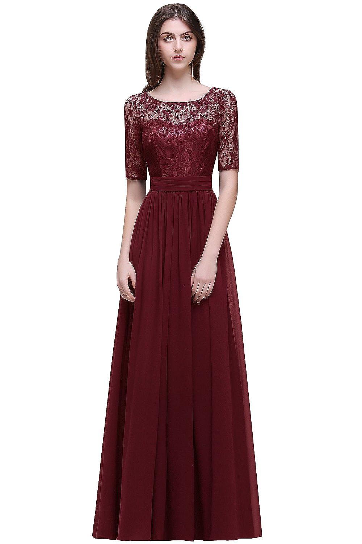 Ausgang MisShow# Damen Elegant Spitzen Abendkleid Abschlusskleider