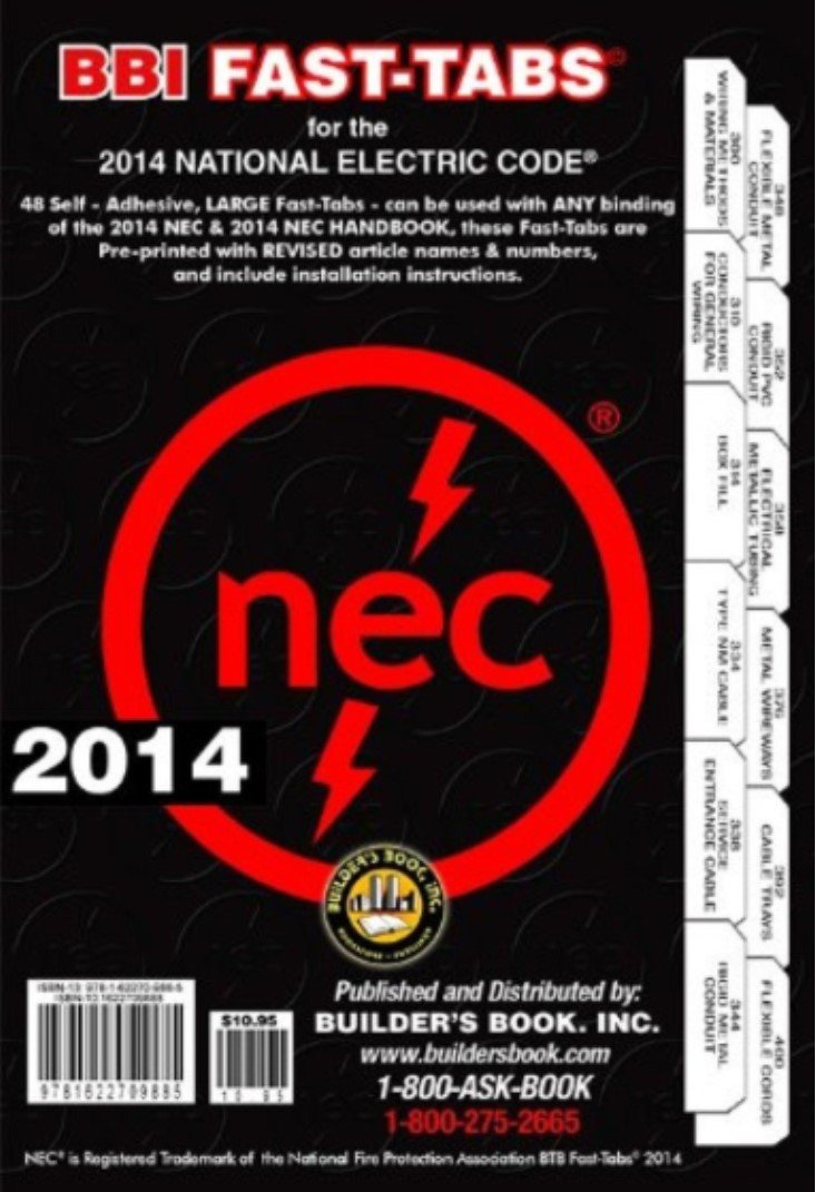 NFPA 70: National Electrical Code (NEC, Spiral Bound, with Fast Tabs, 2014, NFPA 70