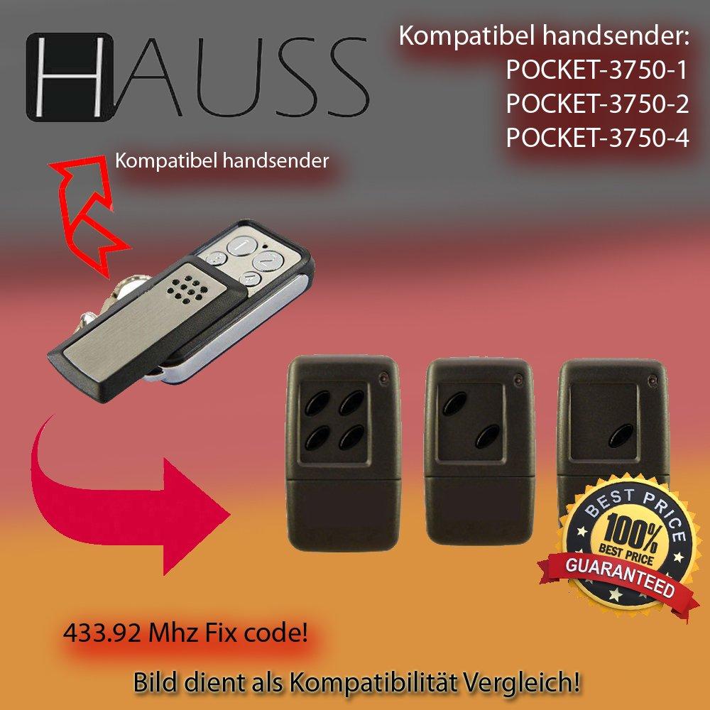3750-2 3750-4 Kompatibel Handsender ersatz HAUSS POCKET klone 3750-1