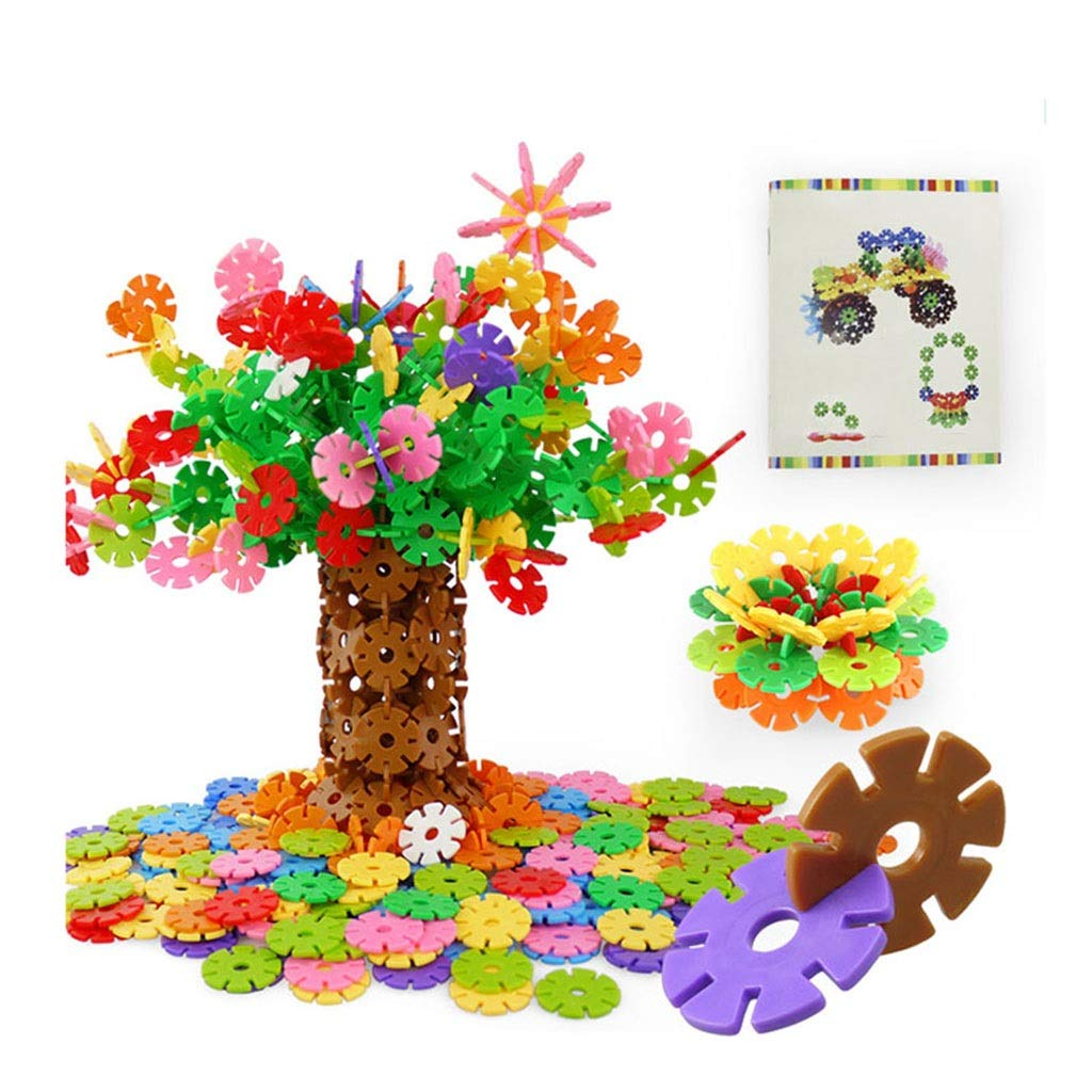 ZDNALS Kids Toys | 500 Pieces of Plastic Snowflake Blocks | Innovation and Educational Options for Building Modules | Kids Toys by ZDNALS