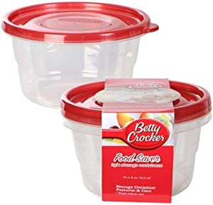 Betty Crocker Easy Seal Storage Containers, 27.5 Fl Oz, 2 pack