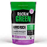 Rockin' Green Natural Laundry Detergent Powder | Hard Rock (for Hard Water), Lavender Mint | HE, 90 Loads - 45oz Perfect for
