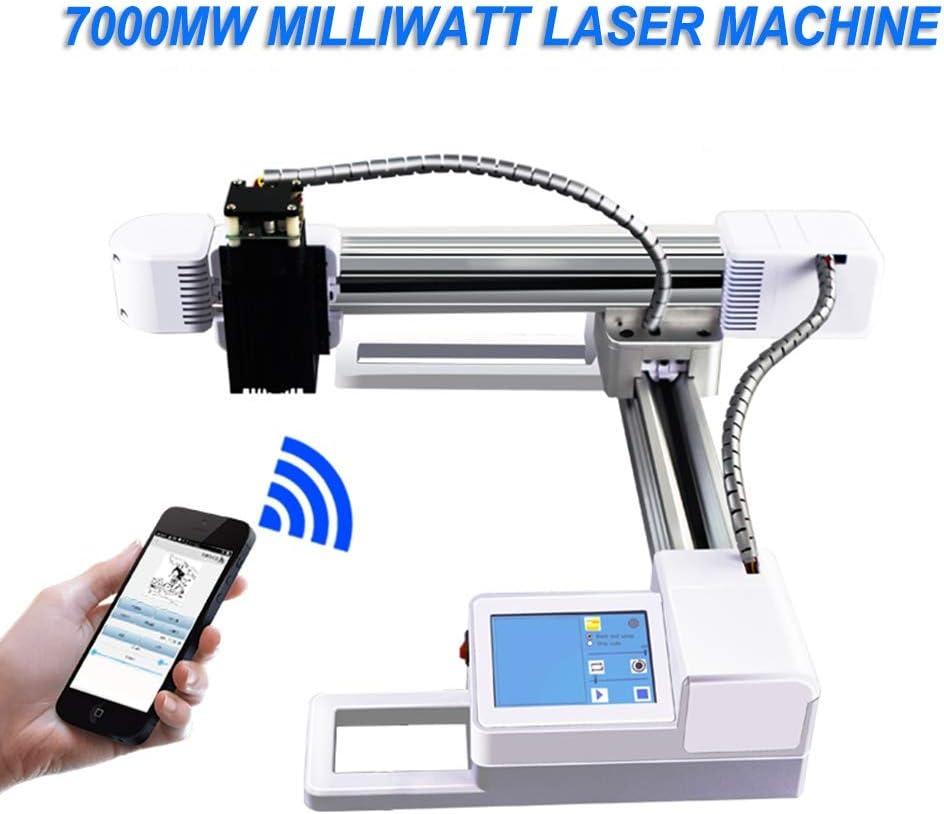 Máquina de grabado Máquina De Grabado, Máquina De Tallado, Área De Trabajo Impresora De 15.5X17.5 Mm Precisión De Corte Y Corte Impresora Ajustable Plotter (7000MW) Herramientas: Amazon.es: Hogar