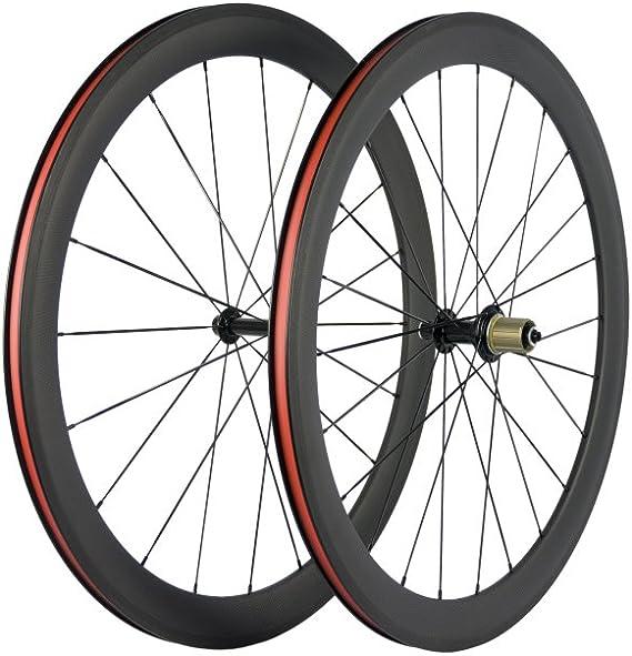 Queen Bike Carbon Fiber Road Bike Wheels 50mm Clincher Wheelset 700c Racing Bike Wheel