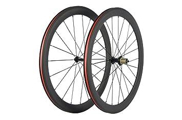 Carbon Road Bike Amazon Com >> Amazon Com Queen Bike Carbon Fiber Road Bike Wheels 50mm Clincher