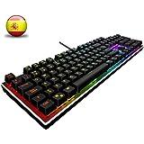 ACGAM AG-109R Chroma Teclado Mecánico Gaming Retroiluminado 105 Keys Switches Brown RGB mechanical keyboard con Disposición Española