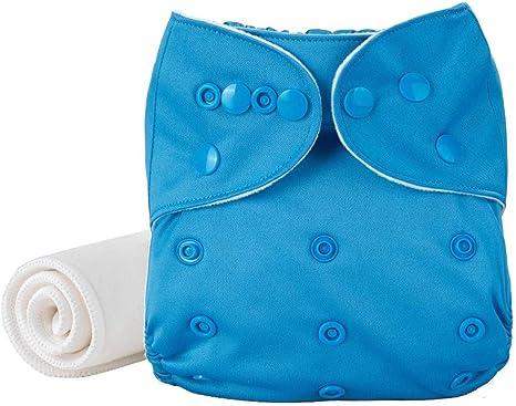 Pañales lavables y reutilizables Zephyr® | Inserto de algodón y bambú [0 a 3 años] (azul): Amazon.es: Bebé