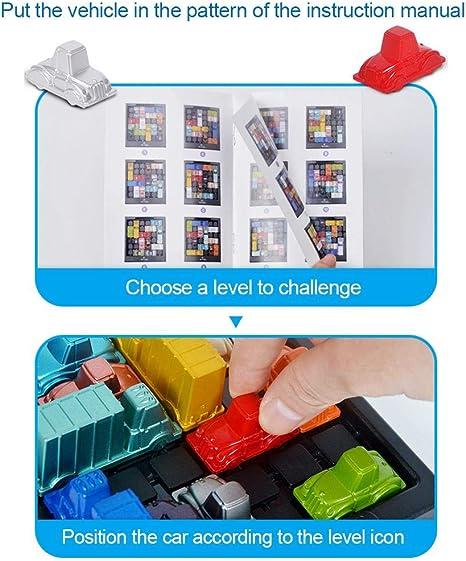 Bestlle Rush Hour Traffic Jam Juego de lógica, Educational Traffic Jam Juego de Rompecabezas Juguetes Puzzle Board Challenge Game Juego de Estrategia para 2 Jugadores Entrenamiento Cerebral Juguete: Amazon.es: Hogar