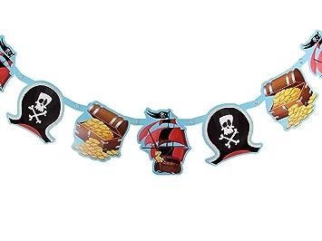 Piraten Girlande Kindergeburtstag 181070 Deko Dekoration ...