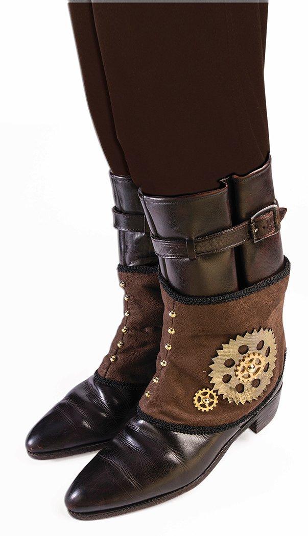 Forum Novelties Steampunk Mechanical Gear Brown Spats 77092