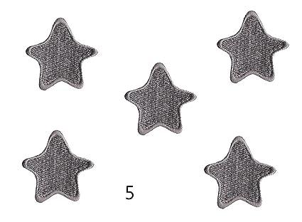 Amazon iron on patches gray star patches iron on applique