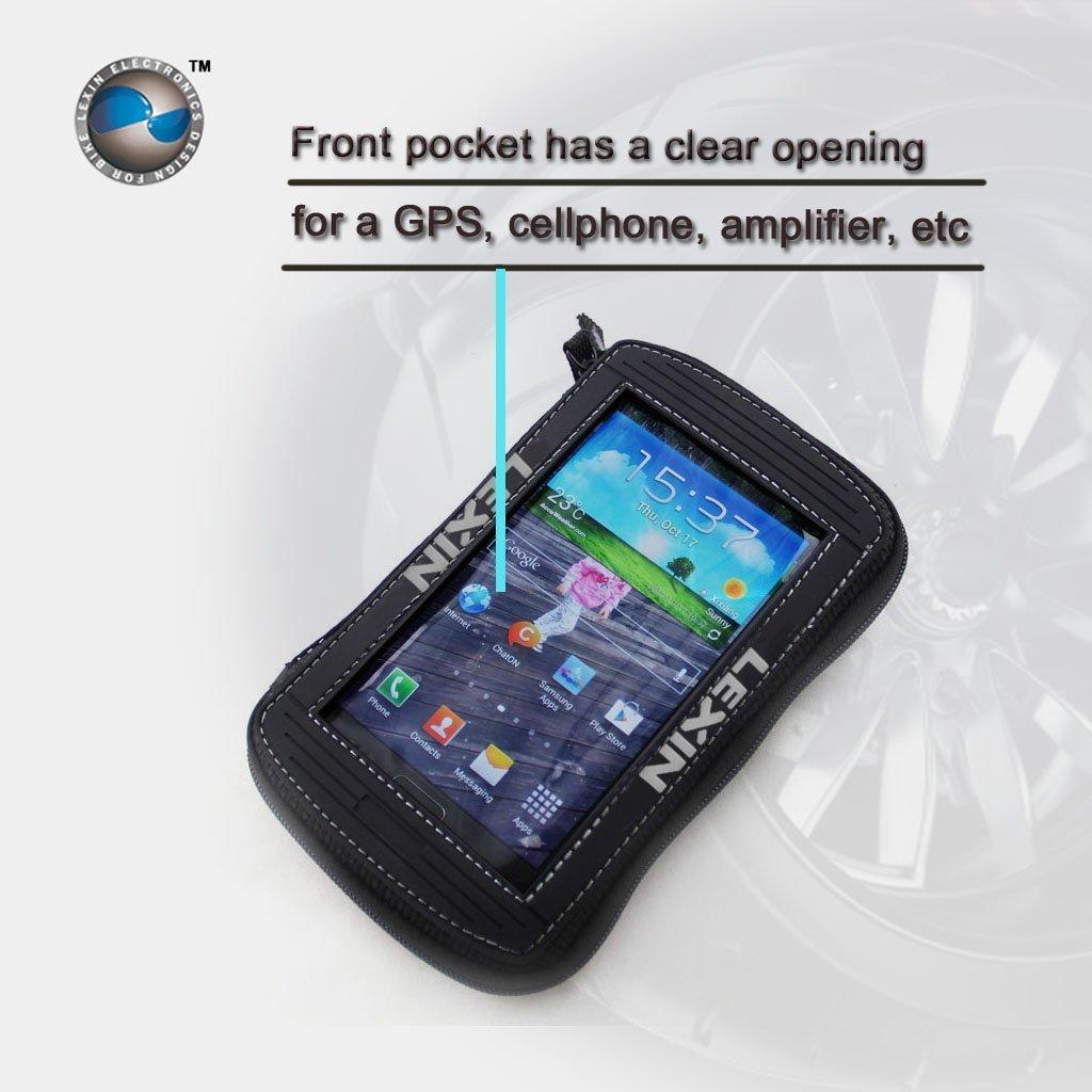 Chorme haut-parleurs Bluetooth moto avec chargeur de t/él/éphone USB compatible avec guidon de 7//8  /à 1,25 LEXIN S3 3  Syst/èmes audio moto imperm/éables avec radio FM